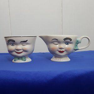 Vintage Baileys Cream & Sugar Bowl Set
